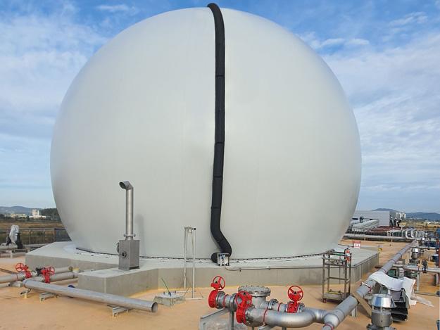 Standardgasspeicher 1300m³,
