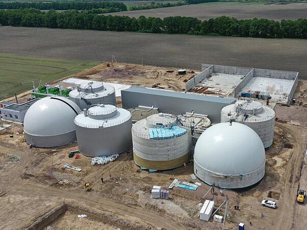 Gasspeicher auf Biogasanlage