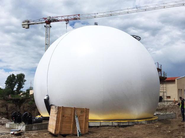 Standardgasspeicher 350m³,
